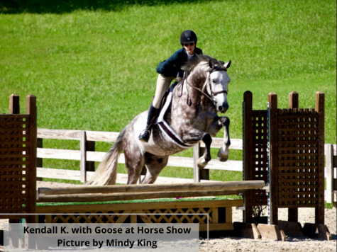 Kendall K. with Goose at a Horse Show