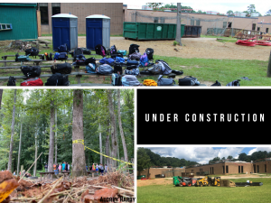 Construction was still being done after school began.
